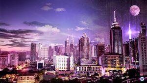 Kuala_Lumpur-skyline-transition-day_to_night-cyberpunk-rain