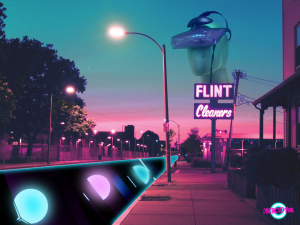 neon aesthetic city art