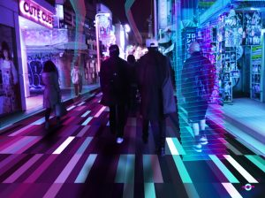 harajuku pixelart neon city