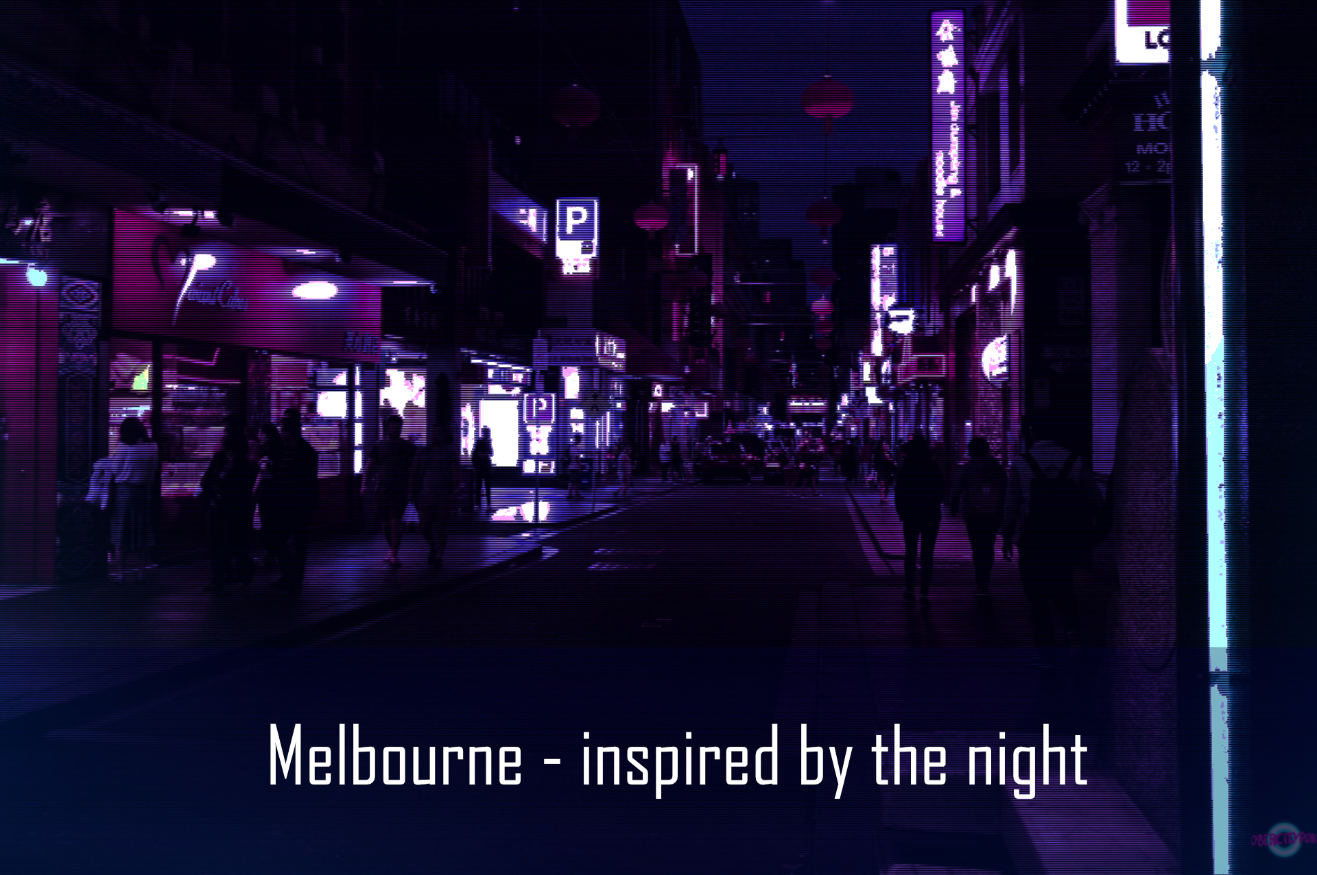 Best spots for cyberpunk photos in Melbourne at night
