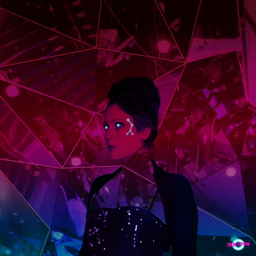 digital art portrait cybercitypunk