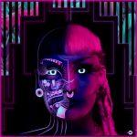 cyberpunk robot girl portrait