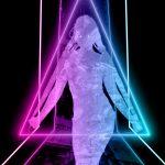 cyberpunk neon aesthetic portrait