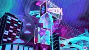 cybercity osaka japan neon advertisements