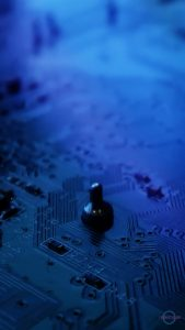 phone wallpaper cybercitypunk circuit board