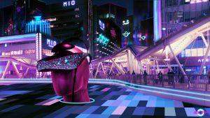 Tokyo digital art cyberpunk