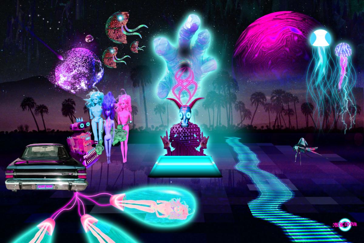 barbiegeddon cybercitypunk neon aesthetic
