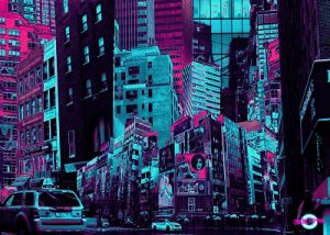 cyberpunk city digital art cybercitypunk