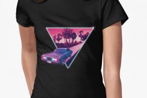 shirt retrowave art car