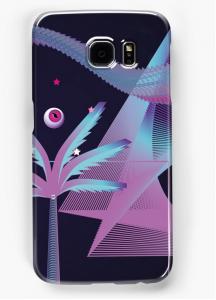 smartphone case retrowave art