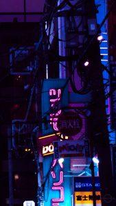 tokio cyberpunk street phone wallpaper cybercitypunk