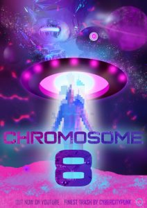 short movie poster chromosome 8 cybercitypunk mushrooms scifi
